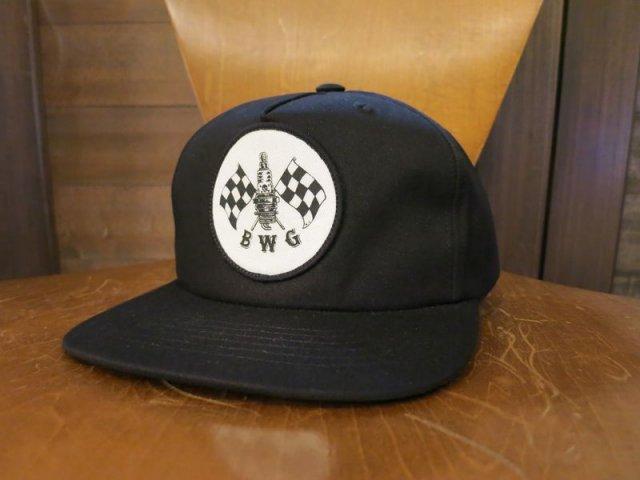 B.W.G × M.D CHECKER SPARK CAP BLACK BLUCO MAGICAL DESIGN