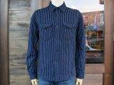 UES 501656 Indigo striped flannel shirt インディゴストライプネルシャツ INDIGO