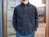 BLUCO ブルコ OL-109C-017 CORDUROY WORK SHIRTS L/S コーデュロイワークシャツ BLACK
