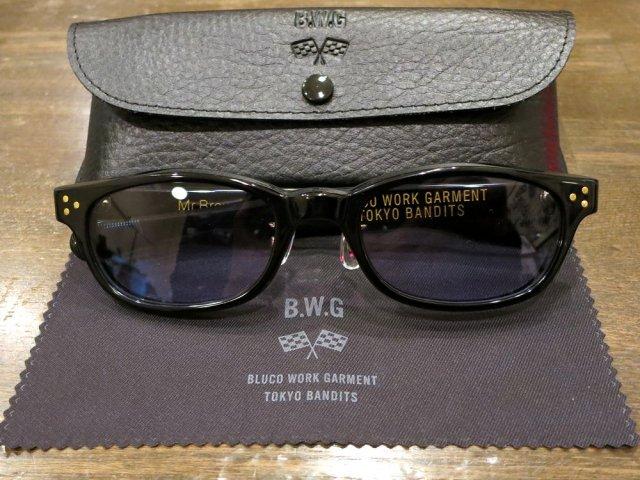 BWG JAPAN  Mr.Brownstone サングラス  BLACKフレーム/BLUEレンズ