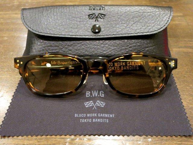 BWG JAPAN  Mr.Brownstone サングラス  TORT(べっ甲)フレーム/YELLOWレンズ