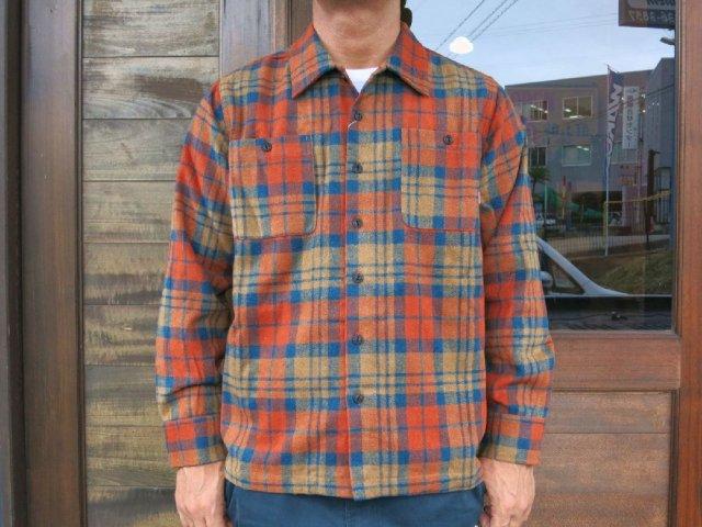 BLUCO ブルコ OL-048-017 HEAVY NEL SHIRTS ヘビーネルシャツ ORANGE