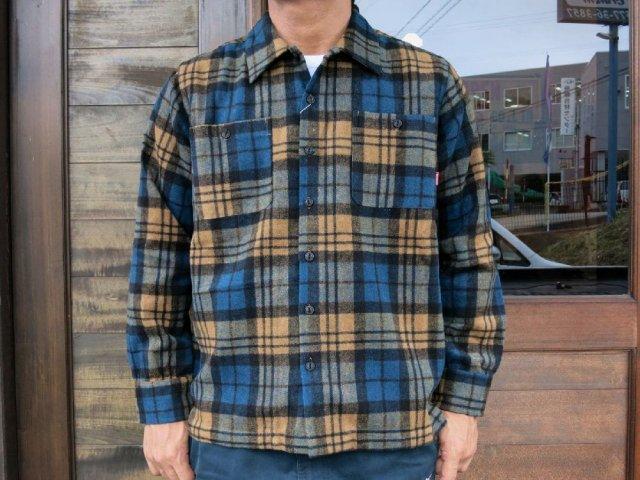 BLUCO ブルコ OL-048-017 HEAVY NEL SHIRTS ヘビーネルシャツ BEIGE