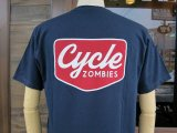 CYCLE ZOMBIES サイクルゾンビーズ  CZ-MPSS-075 『 VACANCY 』 S/S T-SHIRT Tシャツ 半袖 NAVY
