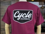 CYCLE ZOMBIES サイクルゾンビーズ  CZ-MPSS-075 『 VACANCY 』 S/S T-SHIRT Tシャツ 半袖 BURGUNDY