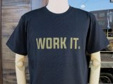BLUCO ブルコ OL-801-018  SUPER HEAVY WEIGHT TEE' S -WORK IT-Tシャツ BLACK