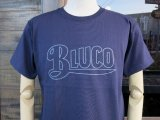 BLUCO ブルコ OL-800-018  SUPER HEAVY WEIGHT TEE' S -LOGO-Tシャツ NAVY