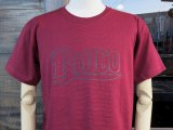 BLUCO ブルコ OL-800-018  SUPER HEAVY WEIGHT TEE' S -LOGO-Tシャツ BURGUNDY
