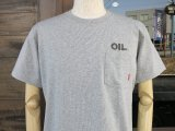 BLUCO ブルコ OL-804-018  SUPER HEAVY WEIGHT TEE' S 『 OIL 』 Tシャツ 半袖 ASH