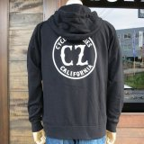 CYCLE ZOMBIES サイクルゾンビーズ  MHZS-001『 CALIFORNIA  』 ZIP HOOD ジップ パーカ BLACK