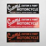 SAMS MOTORCYCLE 『 SAMS BUMPER STICKER 2018  』サムズ バンパー ステッカー2018  BLACK/RED/BLACK×ORANGE 3color