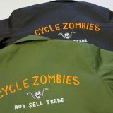 CYCLE ZOMBIES サイクルゾンビーズ  BWJKT-002 BLUCO×CZ『  BUY SELL TRADE  』WORK JACKET ワークジャケット BLACK/GREEN