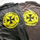 CYCLE ZOMBIES サイクルゾンビーズ  CJKT-013 『  CLOCK WORK  』 COACHES JACKET コーチジャケット  BLACK / BROWN