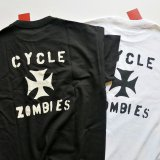 CYCLE ZOMBIES サイクルゾンビーズ  MTSS-024 『 IRON CROSS 』 S/S T-SHIRT Tシャツ 半袖  2color BLACK / WHITE