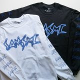 SAMS MOTORCYCLE サムズ  『  SAMS BAR   』 LONG SLEEVE T-SHIRTS ロンT 長袖 BLACK×BLUE / WHITE×BLUE