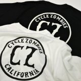 CYCLE ZOMBIES サイクルゾンビーズ  MPSS-091『  CALIFORNIA 2  』 S/S T-SHIRT Tシャツ 半袖  2color WHITE / BLACK