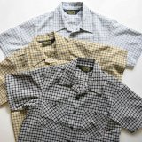 BLUCO ブルコ OL-108S-020 SEERSUCKER WORK SHIRTS S/S シアサッカー ワークシャツ 半袖 BLACK / COYOTE / GRAY