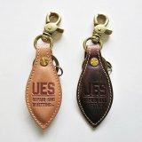 UES ウエス 891449 革キーホルダー ヌメ / ブラウン レザー キーリング