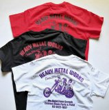 SHOP SAMS サムズ 『 HEAVY METAL WORKS 』REPRINT TEE ポケット Tシャツ 半袖 BLACK / WHITE / RED