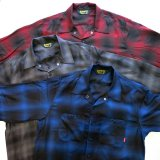 BLUCO ブルコ OL-109TO-021 OMBRE CHECK SHIRTS オンブレチェックシャツ L/S 長袖 BLU-BLK / GRY-BLK / RED-BLK