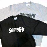 SAMS MOTORCYCLE サムズ 『  SAMSMC  』 CREW NECK SWEATSHIRT クルーネック スウェット BLACK / GRAY トレーナー PRO CLUB