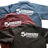 <img class='new_mark_img1' src='https://img.shop-pro.jp/img/new/icons53.gif' style='border:none;display:inline;margin:0px;padding:0px;width:auto;' />SAMS MOTORCYCLE サムズ 『  SAMSMC SPEED SHOP  』 COACH JACKET コーチジャケット 3color BLACK / MAROON / NAVY