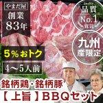 九州産 (鹿児島/長崎)銘柄豚 はいからポーク   地鶏 赤鶏さつま   バーベキュー 【上旨セット】 4〜5人