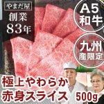 九州産黒毛和牛(鹿児島/佐賀/長崎)A5ランク 極上赤身スライス500g