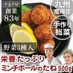 【鹿児島ブランド豚】【佐賀県産銘柄鶏】【九州産野菜】手作りミンチボールのたね 500g