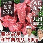 九州産黒毛和牛(鹿児島黒毛和牛) A5ランク 食べ応え◎!角切り 500g
