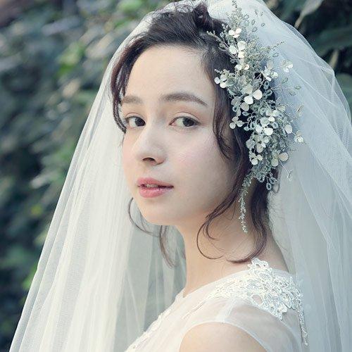 Bridal veil(ブライダルベール)ヘッドドレス(グリーン)Mimi Cannelle(ミミ キャネル)