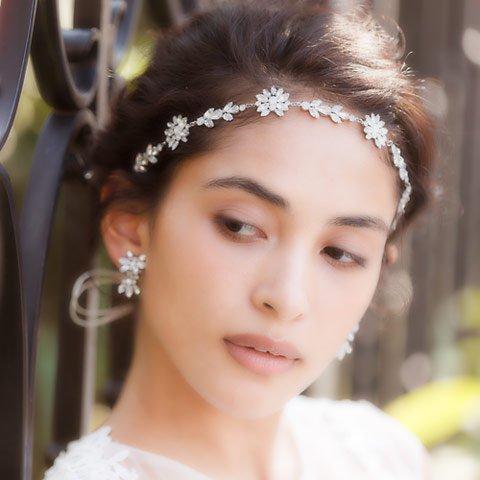 【リボンカチューシャ】AGATA HEAD DRESS(アガタヘッドドレス)(シルバー)orgablanca(オルガブランカ)