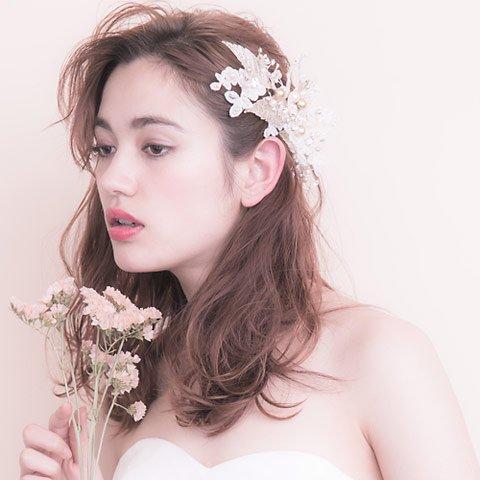 Fleur Lace(フルールレース)ヘッドドレス(ホワイト)francbloom(フランブルーム)