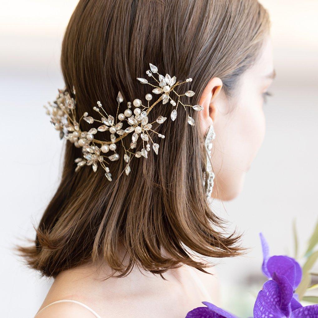TINA HEAD DRESS(ティナヘッドドレス)(ゴールド)orgablanca(オルガブランカ)