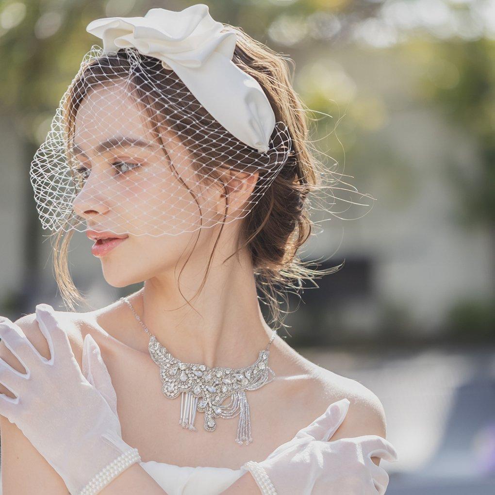 Meruretto(メルレット)ヘッドドレス(オフ)francbloom(フランブルーム)