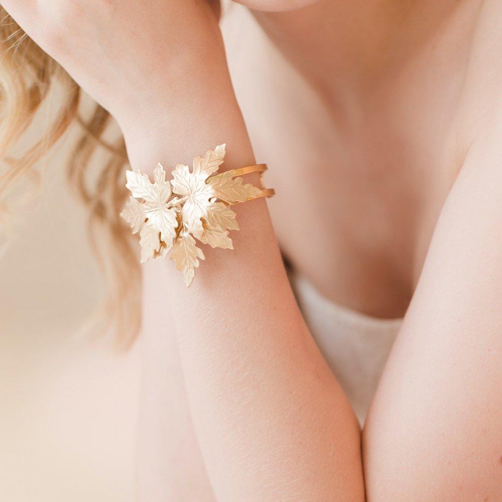 【R】Golden Ivy Bracelet(ゴールデンアイビーブレスレット)(ゴールド)STEPHANIE BROWNE(ステファニーブラウン)