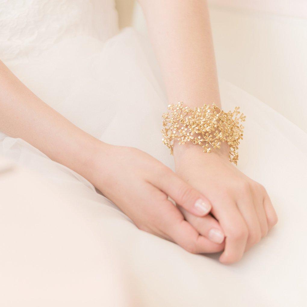 Fleurage Bracelet(フルラージュブレスレット)(ゴールド)Mimi Cannelle(ミミ キャネル)