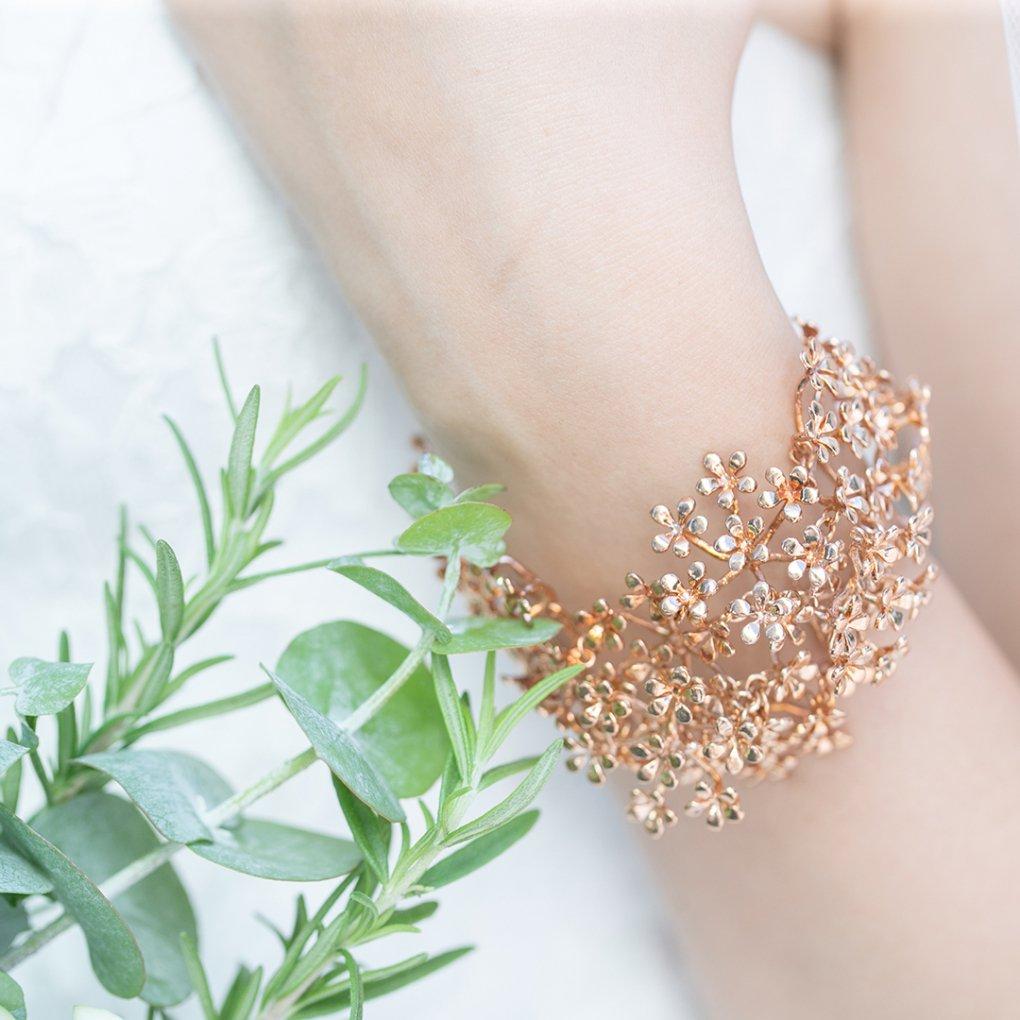 Fleurage Bracelet(フルラージュブレスレット)(ピンクゴールド)Mimi Cannelle(ミミ キャネル)