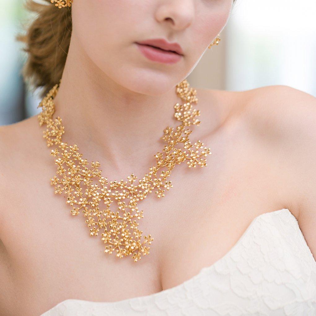 Fleurage Necklacet(フルラージュネックレス)(ゴールド)Mimi Cannelle(ミミ キャネル)