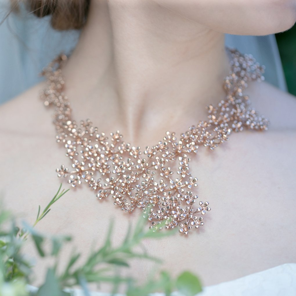 Fleurage Necklacet(フルラージュネックレス)(ピンクゴールド)Mimi Cannelle(ミミ キャネル)