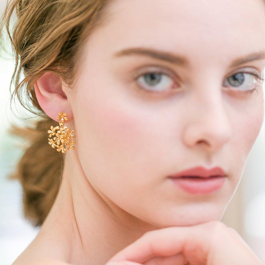 Small Fleurage Earring&Pierce(スモールフルラージュイヤリング&ピアス)(ゴールド)Mimi Cannelle(ミミ キャネル)