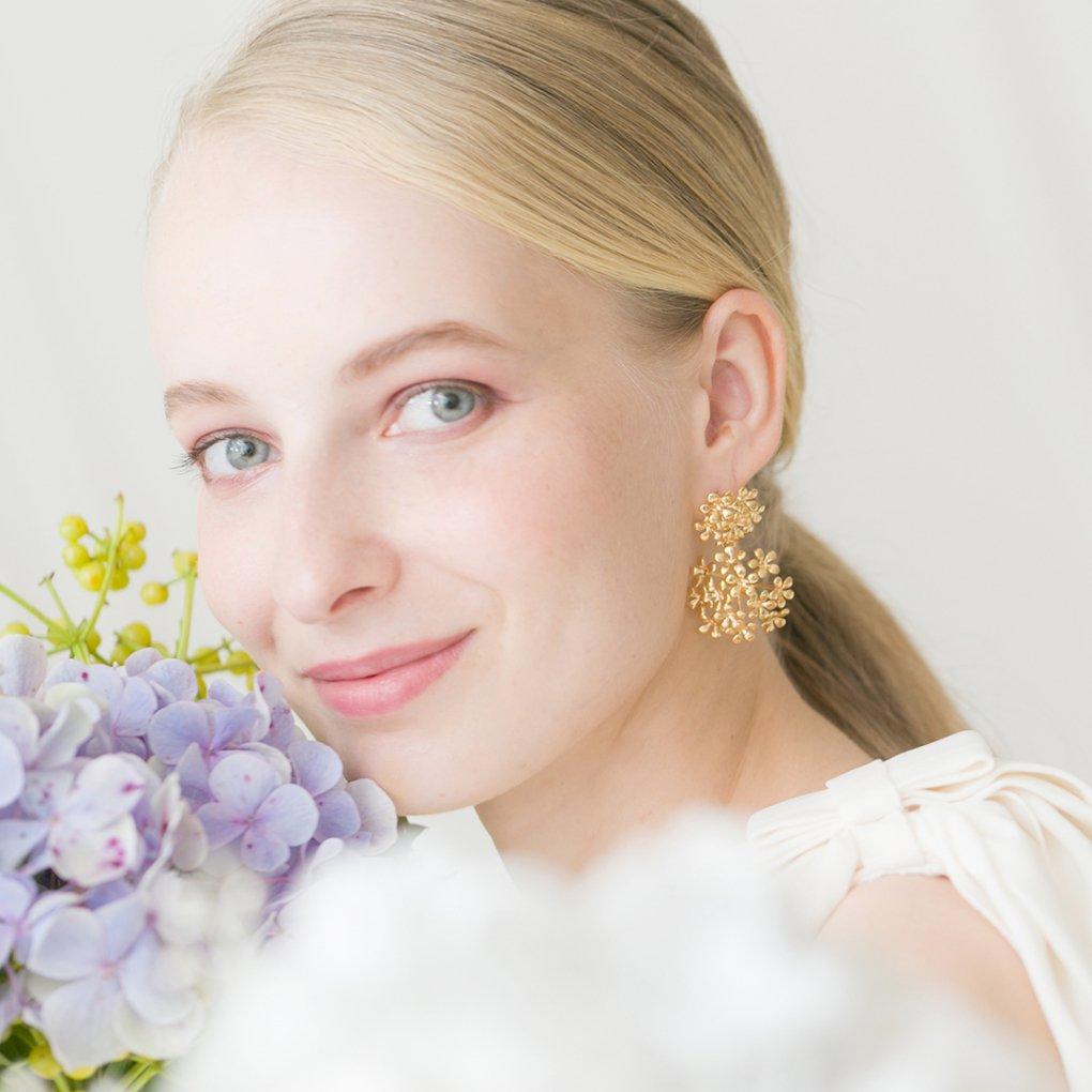 Fleurage Earringe&Pierce(フルラージュイヤリング&ピアス)(ゴールド)Mimi Cannelle(ミミ キャネル)