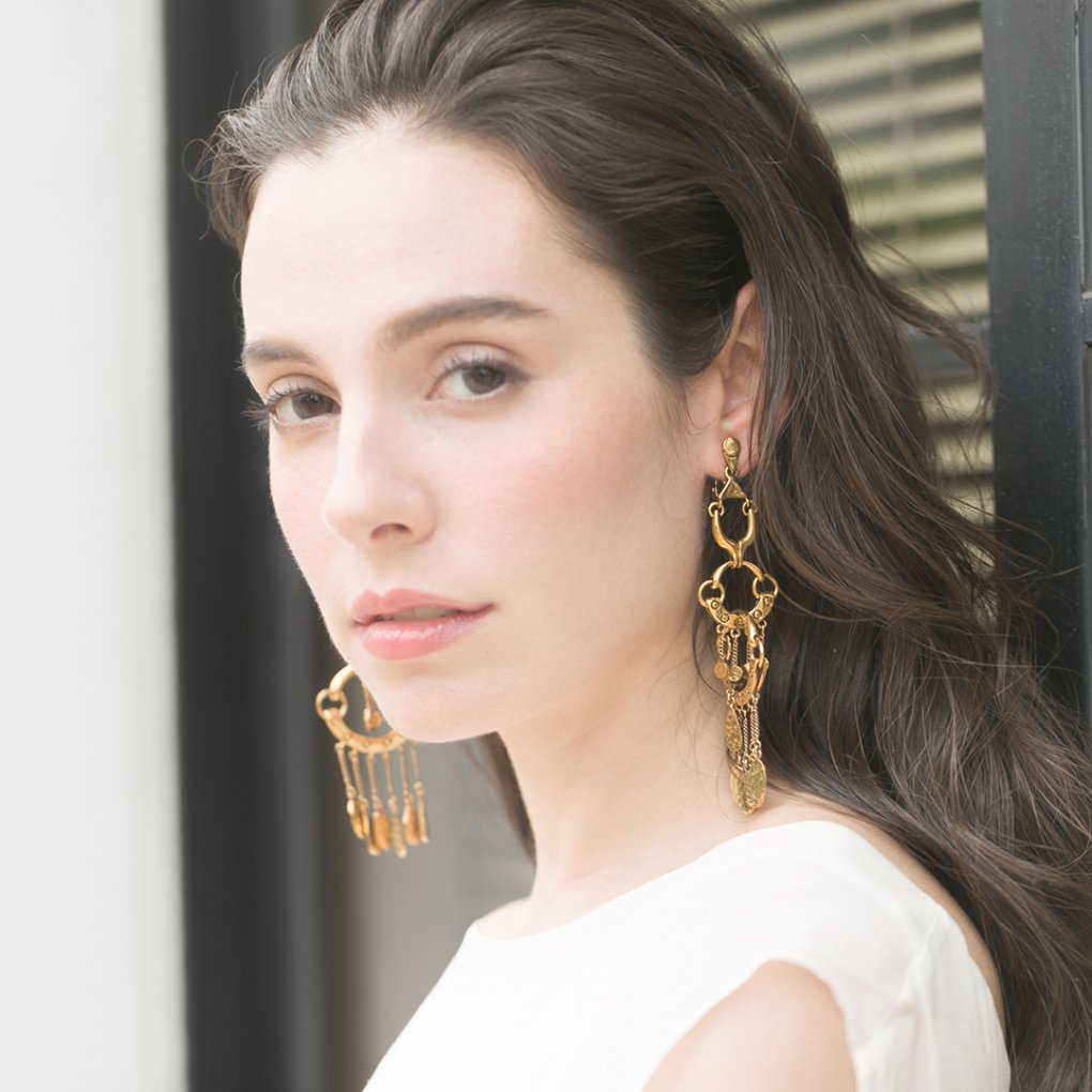 <img class='new_mark_img1' src='https://img.shop-pro.jp/img/new/icons8.gif' style='border:none;display:inline;margin:0px;padding:0px;width:auto;' />【R】Chainring Drop Earring(チェーンリングドロップイヤリング)(ゴールド)Chloe(クロエ)