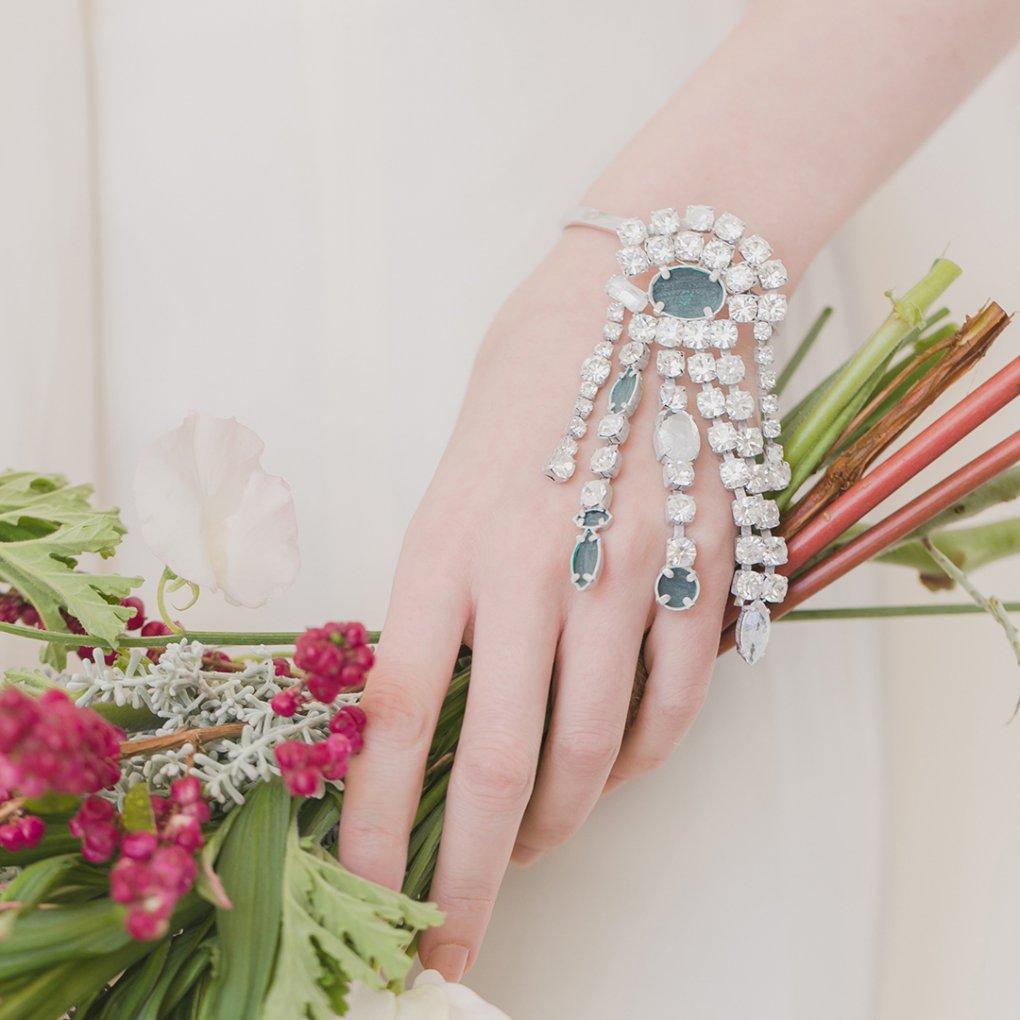 【R】Crystal Chain Bracelet from MM6(クリスタルチェーンブレスレット)(シルバー)Maison Margiela(メゾンマルジェラ)