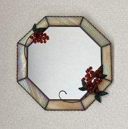 【送料無料】 南天の八角形鏡