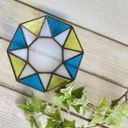 八角形のアクセサリートレー トライアングル ブルー