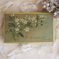 イタリア D. LAZZARONI&C. SARONNO  白いお花のティン缶 ボックス