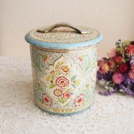 オランダ エレガントなお花のティン缶