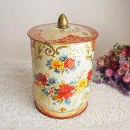 MURRAY-ALLEN レッド フラワー&ローズ 薔薇とお花のティン缶