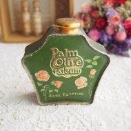 Palm Olive Talcum Rose Egyptian ピンクローズのパウダー缶 ティン